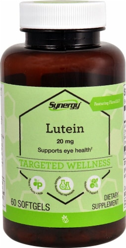 Vitacost  Synergy Lutein with Zeaxanthin Featuring FloraGLO® Lutein Perspective: front