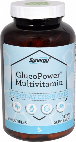 Vitacost Synergy GlucoPower Multivitamin Capsules Perspective: front