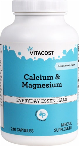 Vitacost Calcium & Magnesium Supplement Capsules Perspective: front