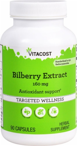 Vitacost  Bilberry Extract - Standardized Perspective: front