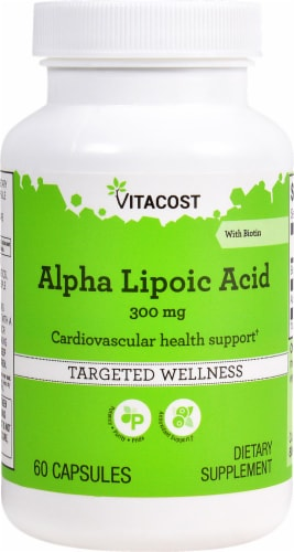 Vitacost  Alpha Lipoic Acid  300 mg with Biotin Perspective: front
