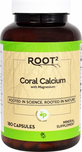 Vitacost Root2 Coral Calcium Capsules Perspective: front