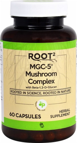 Vitacost ROOT2 MGC-5 Mushroom Complex Capsules Perspective: front