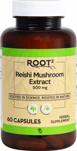 Vitacost  ROOT2 Reishi Mushroom Extract - Standardized Perspective: front