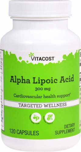 Vitacost Alpha Lipoic Acid Targeted Wellness Capsules 300mg Perspective: front