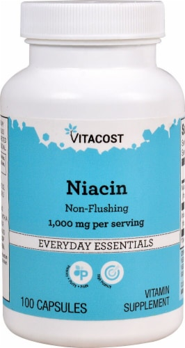Vitacost Niacin Non-Flushing Capsules 1000mg Perspective: front