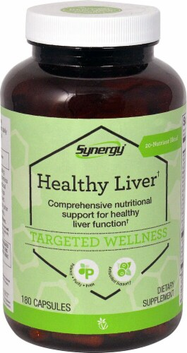Vitacost Synergy Healthy Liver Capsules Perspective: front
