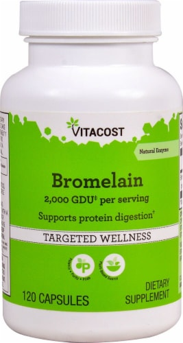 Vitacost Bromelain Capsules Perspective: front