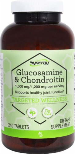 Vitacost Synergy Glucosamine & Chondroitin 1500mg/1200mg Tablets Perspective: front