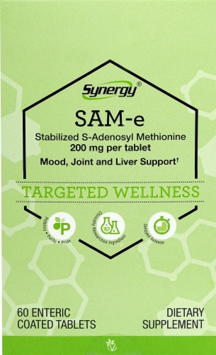 Vitacost Synergy SAM-e Tablets 200mg Perspective: front