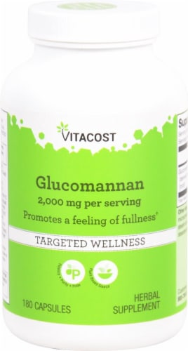 Vitacost Glucomannan Konjac Root Capsules Perspective: front