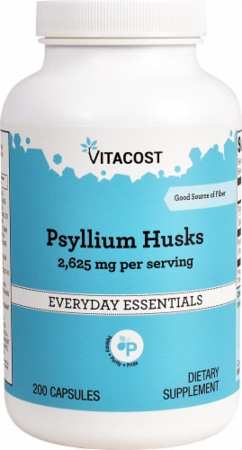 Vitacost Psyllium Husks Everyday Essentials Capsules 2625mg Perspective: front