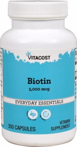 Vitacost Biotin Everday Essentials Capsules Perspective: front