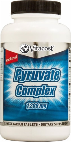 Vitacost Pyruvate Complex Vegetarian Tablets 1200mg Perspective: front