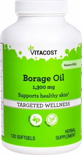 Vitacost  Borage Oil with GLA Perspective: front