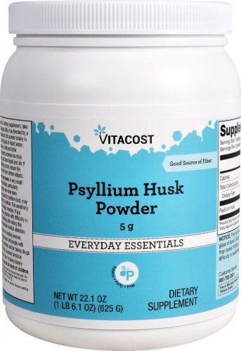 Vitacost Psyllium Husk Powder Everyday Essentials Dietary Supplement Perspective: front