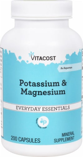 Vitacost Potassium & Magnesium Everyday Essentials Capsules Perspective: front