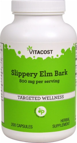 Vitacost Slippery Elm Bark Capsules Perspective: front