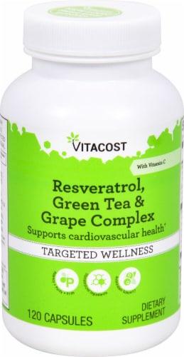 Vitacost  Resveratrol  Green Tea & Grape Complex Perspective: front