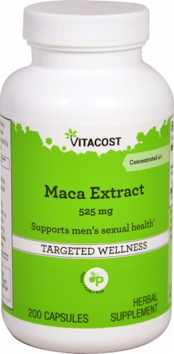 Vitacost Maca Extract Targeted Wellness Cpasules 525mg Perspective: front
