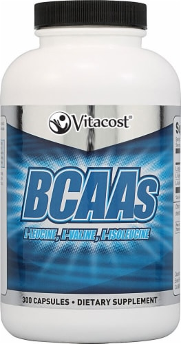 Vitacost  BCAAs Capsules Perspective: front