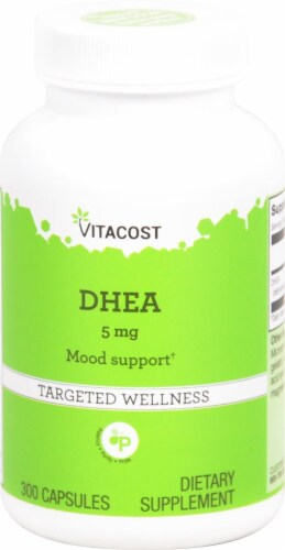 Vitacost DHEA Targeted Wellness Capsules 5mg Perspective: front