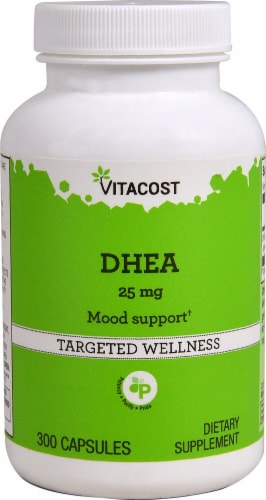 Vitacost DHEA Targeted Wellness Capsules 25mg Perspective: front