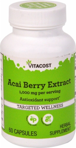 Vitacost Acai Berry Extract Capsules Perspective: front