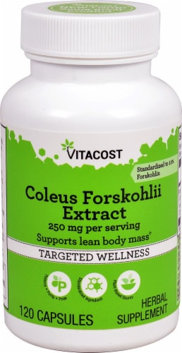 Vitacost Coleus Forskohlii Extract Capsules Perspective: front