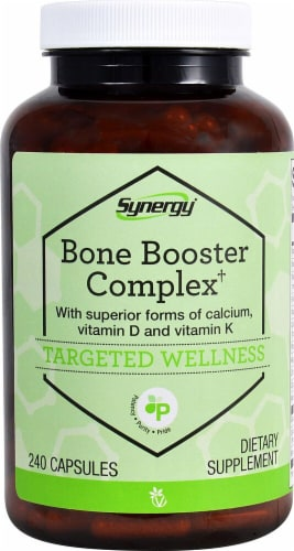 Vitacost Synergy Bone Booster Complex Targeted Wellness Capsules Perspective: front