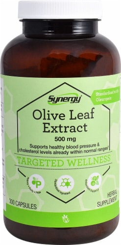 Vitacost Synergy Olive Leaf Extract Targeted Wellness Capsules Perspective: front