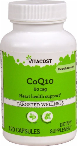 Vitacost CoQ10 Dietary Supplement 60mg Perspective: front
