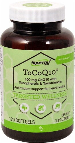Vitacost Synergy ToCoQ10® with BioPerine® & EVNol SupraBio™ Perspective: front