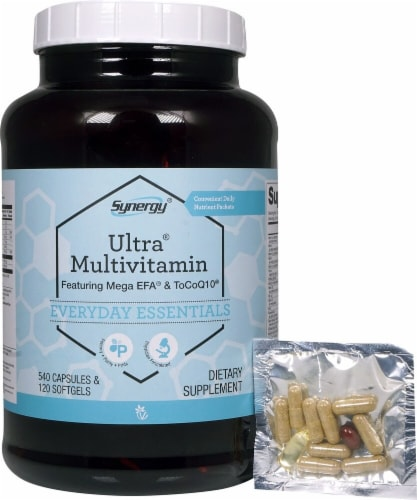 Vitacost Synergy Ultra Multivitamin Perspective: front
