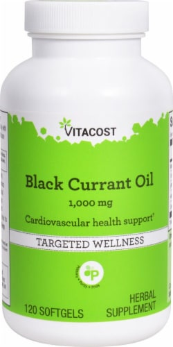 Vitacost  Black Currant Oil Perspective: front