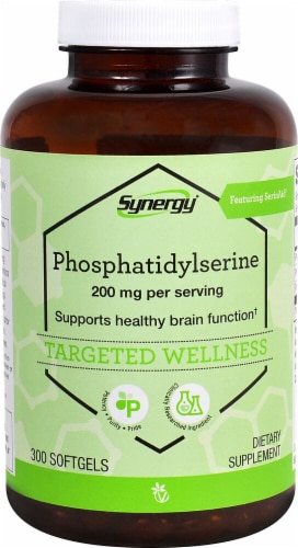 Vitacost Synergy Phosphatidylserine Targeted Wellness Softgels 200mg Perspective: front