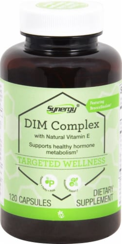 Vitacost Synergy DIM Complex with BroccoSinolate and Vitamin E Perspective: front
