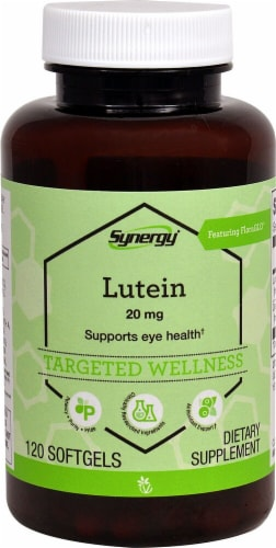 Vitacost Synergy Lutein Targeted Wellness Softgels 20mg Perspective: front