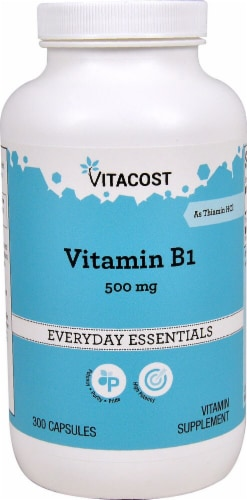 Vitacost Vitamin B-1 Capsules 500mg Perspective: front