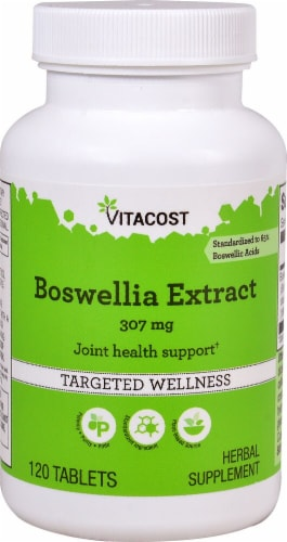 Vitacost Boswellia Extract Tablets 307mg Perspective: front