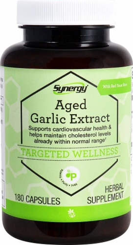Vitacost Synergy Aged Garlic Extract with Red Yeast Rice Perspective: front