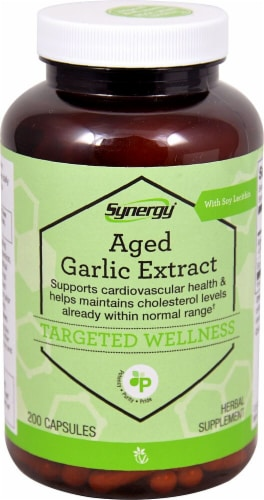 Vitacost  Synergy Aged Garlic Extract with Soy Lecithin Perspective: front