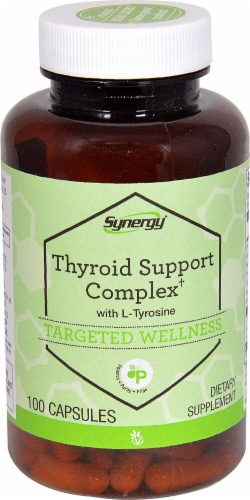 Vitacost  Synergy Thyroid Support Complex† with L-Tyrosine Perspective: front