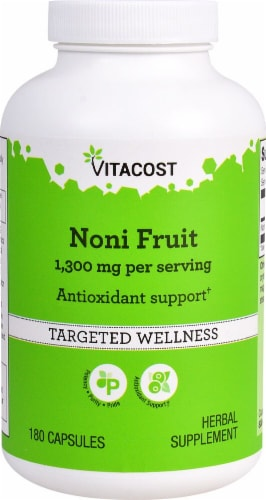 Vitacost Noni Fruit Capsules 1300mg Perspective: front