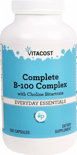 Vitacost Complete B-100 Complex Capsules Perspective: front