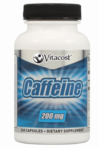 Vitacost Caffeine Supplement 200mg Perspective: front
