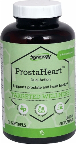 Vitacost Synergy ProstaHeart Dual Action Featuring 5-LOXIN & Vegapure Dietary Supplement Perspective: front