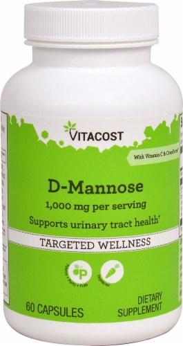 Vitacost D-Mannose Targeted Wellness Capsules 1000mg Perspective: front