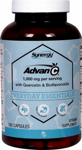 Vitacost Synergy Advan-C Capsules Perspective: front