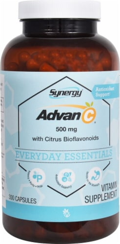 Vitacost Synergy Advan-C Everyday Essentials Capsules 500mg Perspective: front